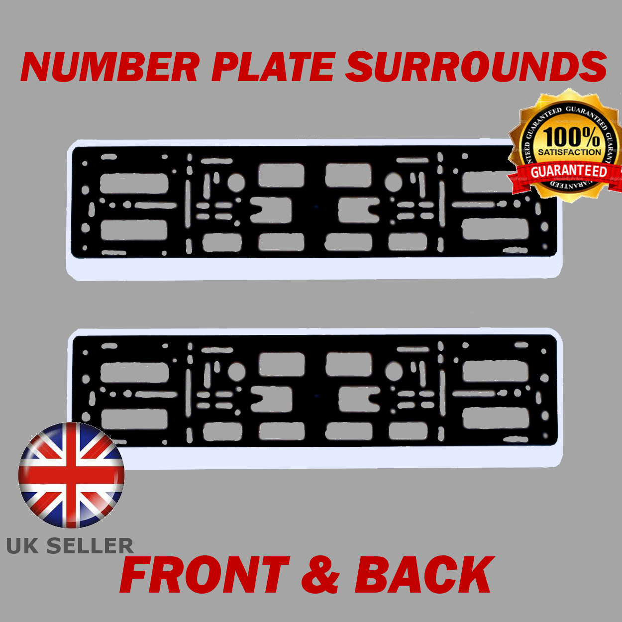 Image is loading 2x-Number-Plate-Surrounds-ABS-Holder-Silver-for-  sc 1 st  eBay : mercedes benz number plate holder - pezcame.com