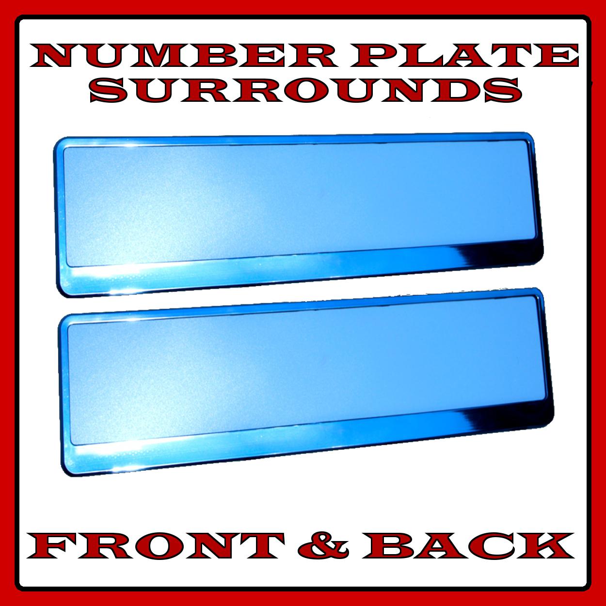2x contours plaque immatriculation support chrome pour mini bmw countryman ebay. Black Bedroom Furniture Sets. Home Design Ideas