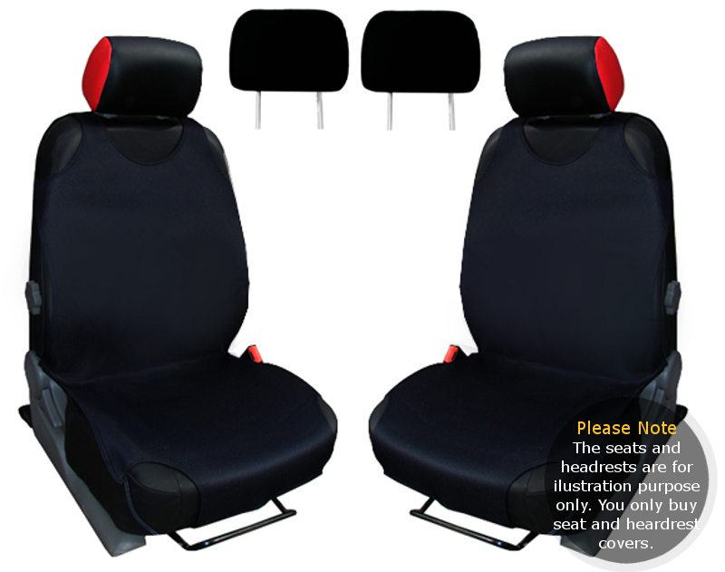 2x car seat cover t shirt vest front headrest black acura mdx ebay. Black Bedroom Furniture Sets. Home Design Ideas