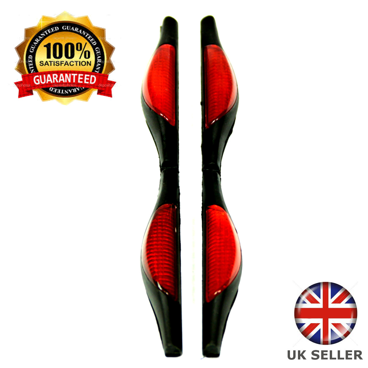 Car Door Guard Protectors Edge Strip Reflectors Red